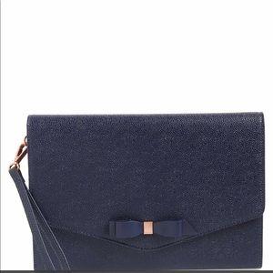 Ted Baker London Krystan Leather Envelope Clutch